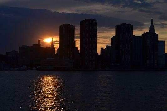 sunset above Midtown Manhattan