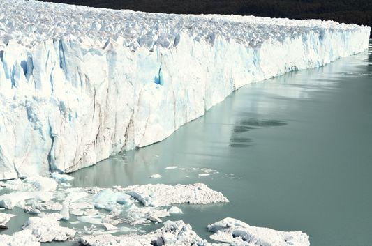 WHITE Perito Moreno glacier in EL Calafate in Argentina