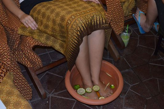 a foot massage