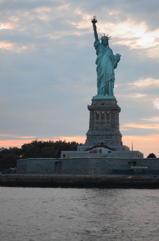 the famous Statue of Liberty known from many movies