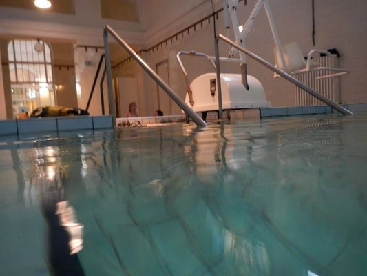 an indoor pool of 37 Celsius degrees