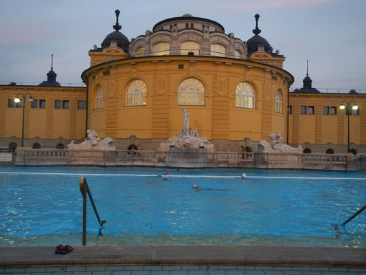 swimming outdoor pool in Szechenyi