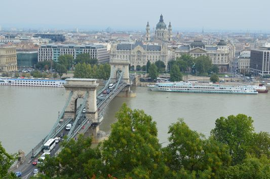 the view from Buda Castle