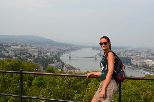 view of Budapest from Citadel