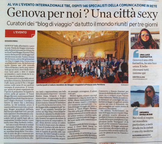 Crazy Sexy Fun Traveler featured on Il Secolo XIX
