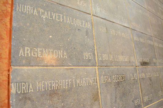 Nuria names in the sanctuary