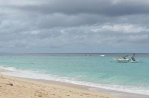 Puka beach on Boracay, Philippines