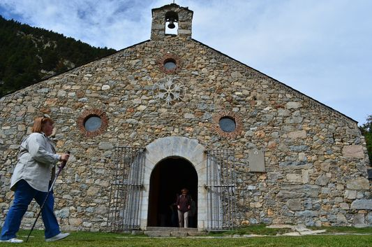 Sanctuary of the Virgin in Nuria Valley
