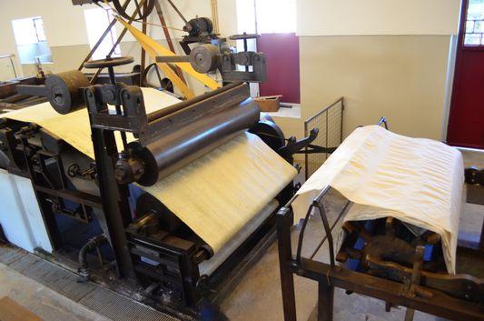 a big paper machine