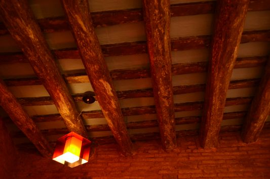 beautiful wooden ceiling
