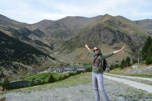 crazy sexy fun traveler hiking back down