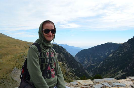 crazy sexy fun traveler in the Pyrenees
