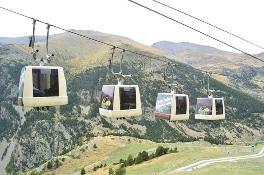 gondolas in the Nuria Valley
