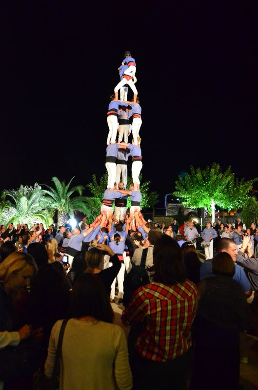 human towers at openingTBEX party in Sant Gregori castle