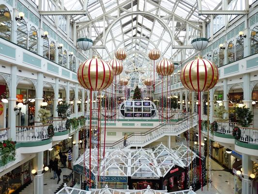inside of Stephen's Green Shopping Centre