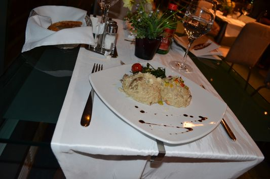 mushroom risotto as main course