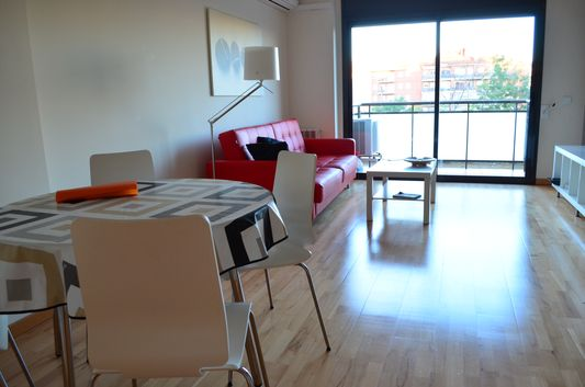 our bright living room in Feng Shui apartment in Girona