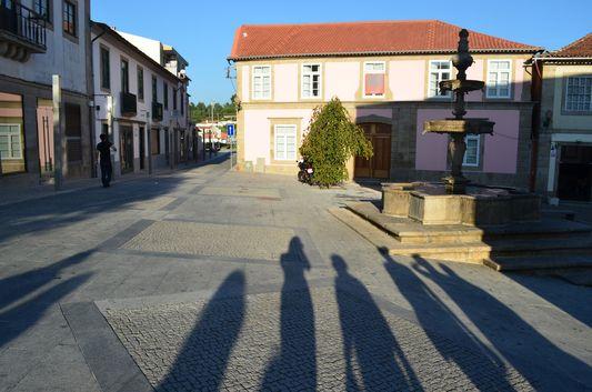 our shadows at Praça da República