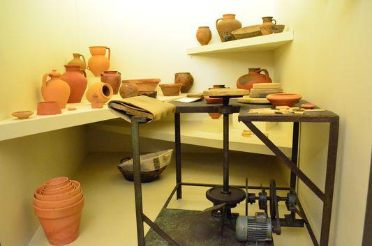 pottery in Museum of Santa Maria da Feira