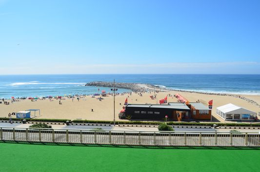 the view of Espinho beach from Praiagolfe hotel