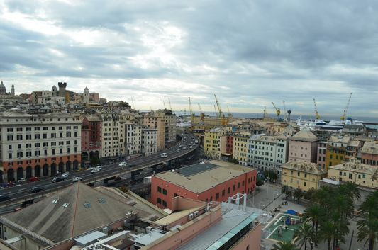 the view of Genoa