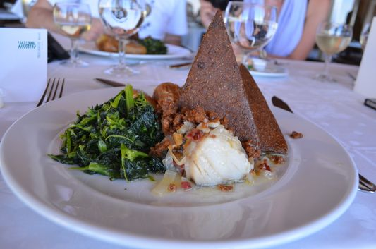 vegetarian main course I had in Praiagolfe Hotel