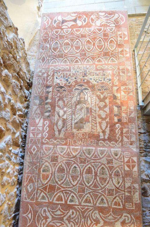 Roman villa original mosaics in Municipal Museum