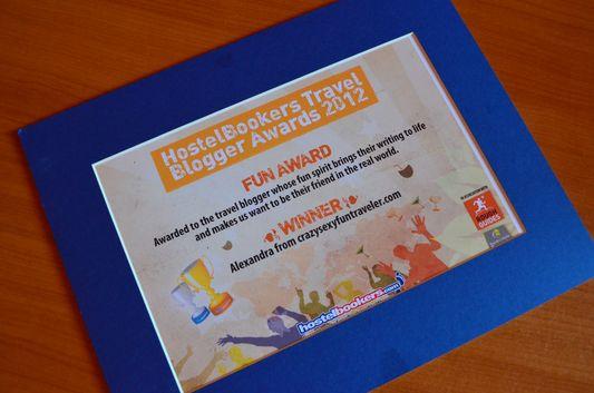 Travel Blogger Fun Award