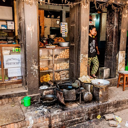 a Nepalese bakery
