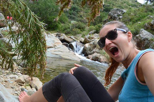 happy to be at Coimata waterfalls