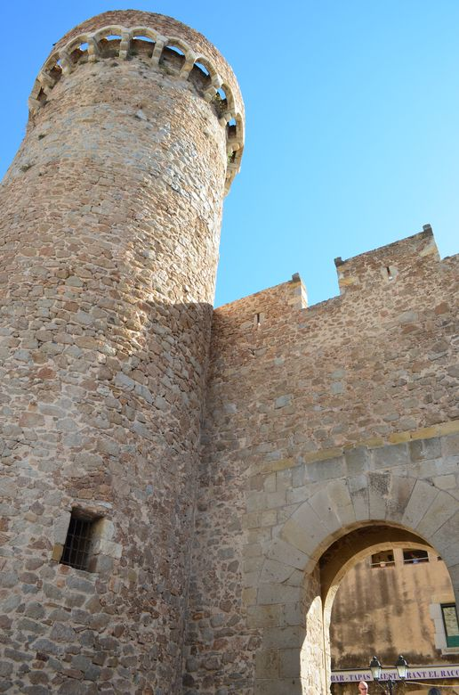 one of the gates and towers of Tossa de mar walled city