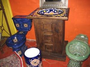 Talavera toilet