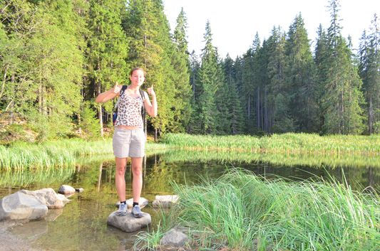 at Vrbicke pleso after hiking