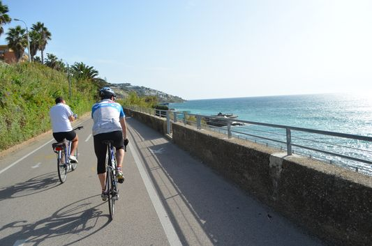 our last few minutes cycling Sanremo