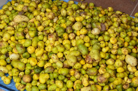 potatoes at Tarabuco market