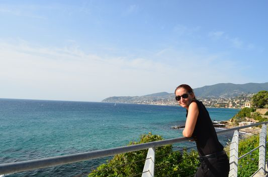stopped to enjoy the views of Sanremo