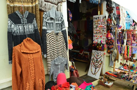 woolen jumpers at Tarabuco market