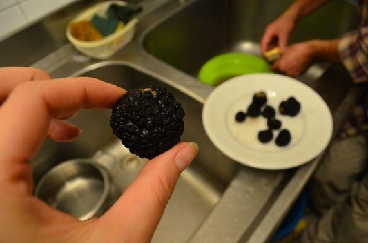 a clean black truffle
