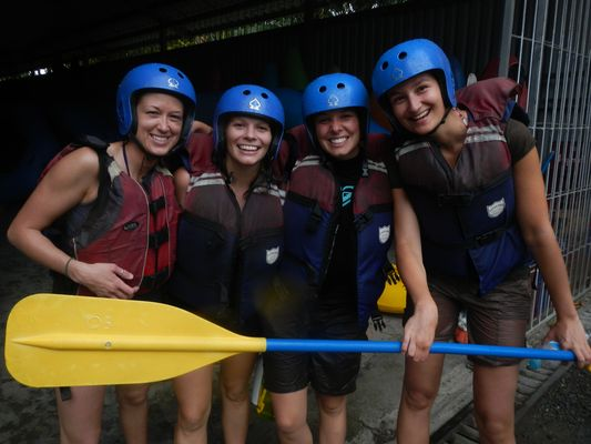 after rafting Pacuare river in Costa Rica