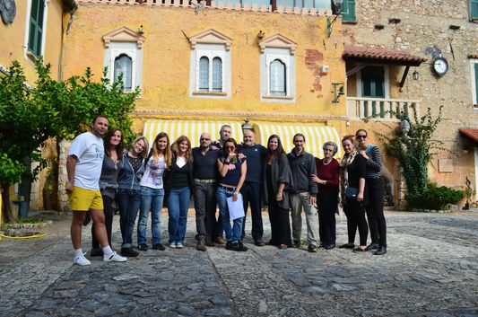bloggers visiting Azienda Sacone