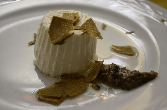 dessert with truffles