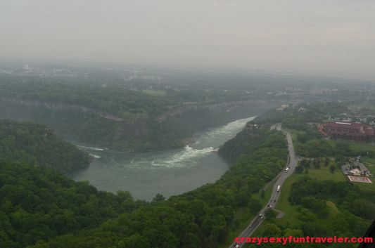 spotted Niagara River and the Gorge for the first time from the helicopter