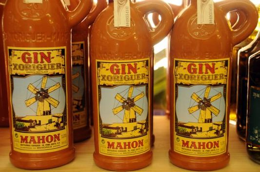 Bottles Of Gin in Menorca in Spain