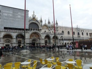 flooded Piazza San Marco in Venice