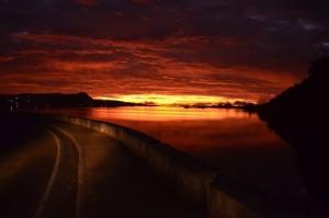 orange sunrise on Bohol