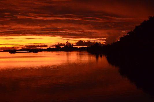 reddish sunrise in Bohol island