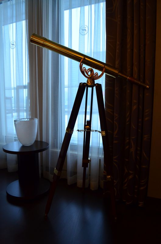 super cool binocular in Presidential Suite in Sheraton Bratislava