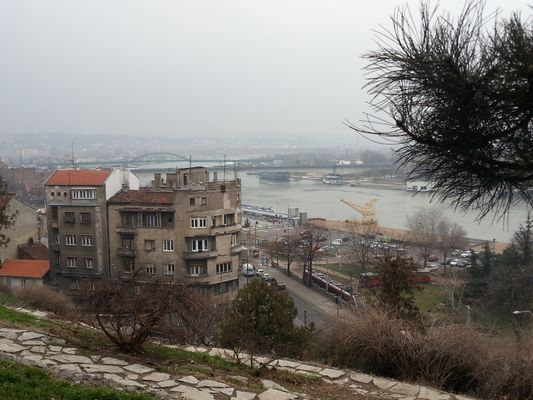 view of the Sava from the Belgrade Fortress