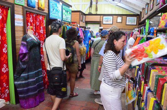 Batik shop in Caribelle Batik on St. Kitts