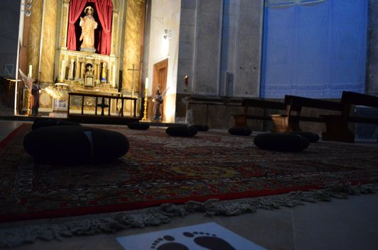 Prayer room in Santa Maria church in Cadaques